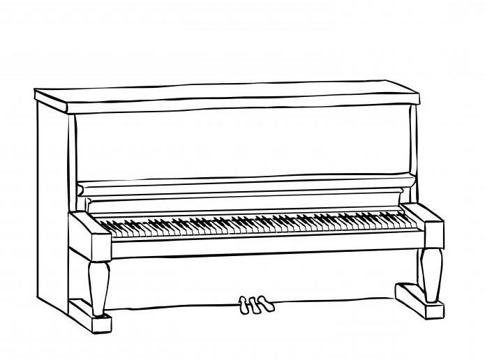 Comment dessiner un piano: instruction